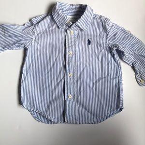 Ralph Lauren button down stripe shirt
